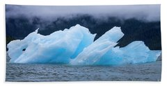 Blue Iceberg Beach Towel