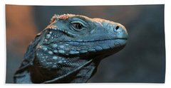 Blue Iguana Beach Towel
