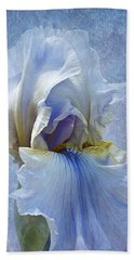 Blue Iris Fog Beach Towel