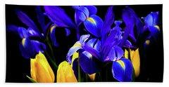 Blue Iris Waltz By Karen Wiles Beach Towel by Karen Wiles
