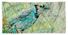 Blue Jay Mosaic Beach Towel