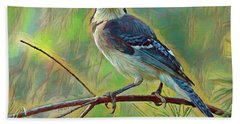 Blue Jay Painterly Beauty Beach Towel