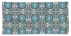 Blue Kaleidoscope Swirl Beach Sheet