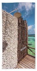 Beach Towel featuring the photograph Blue Lagoon View 1 by Jenny Rainbow