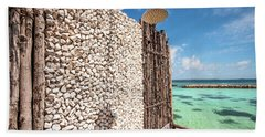 Beach Towel featuring the photograph Blue Lagoon View by Jenny Rainbow