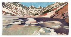 Blue Lakes Colorado Beach Towel