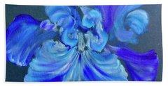 Blue/lavender Iris Beach Towel