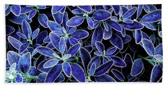 Blue Leaves Beach Towel