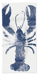 Blue Lobster- Art By Linda Woods Beach Towel by Linda Woods