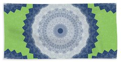 Blue Mandala- Art By Linda Woods Beach Towel