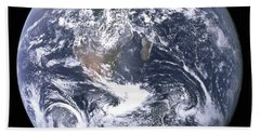 Blue Marble - Image Of The Earth From Apollo 17 Beach Towel