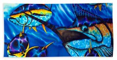 Blue Marlin And Yellowfin Tuna Beach Towel