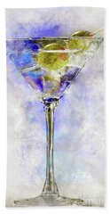 Blue Martini Beach Towel