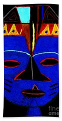 Blue Mask Beach Towel