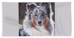 Blue Merle Sheltie Beach Towel