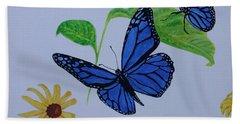 Blue Monarch Beach Towel