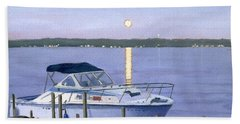 Beach Sheet featuring the painting Blue Moon by Lynne Reichhart
