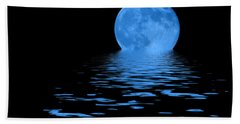 Beach Towel featuring the photograph Blue Moon by Shane Bechler