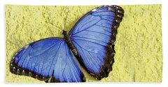 Blue Morpho Butterfly Beach Sheet