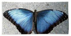 Blue Morpho Butterfly Beach Towel