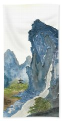 Blue Mountain Morning Beach Towel