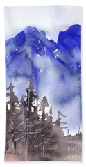 Blue Mountains Beach Towel by Yolanda Koh