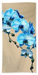 Blue Mystique Orchid Beach Towel