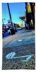 Blue Notes On Beale Beach Towel