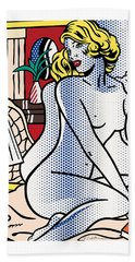 Blue Nude - Pop Art  Beach Towel