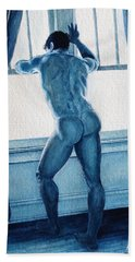 Blue Nude Beach Towel
