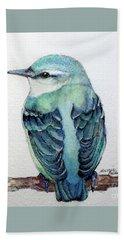 Blue Nuthatch Beach Towel by Marcia Baldwin