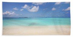 Beach Towel featuring the photograph Blue Ocean by Jenny Rainbow