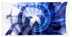 Blue Octopus  Beach Sheet by Thibault Toussaint