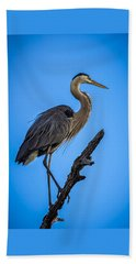 Blue On Blue Beach Towel by Marvin Spates