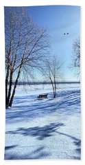 Beach Towel featuring the photograph Blue On Blue by Phil Koch