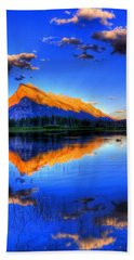 Beach Towel featuring the photograph Blue Orange Mountain by Test Testerton