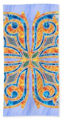 Blue Oriental Tile 02 Beach Towel
