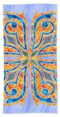 Blue Oriental Tile 02 Beach Sheet