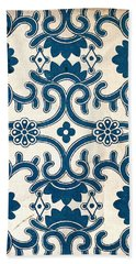 Blue Oriental Vintage Tile 02 Beach Sheet