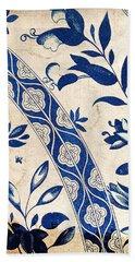 Blue Oriental Vintage Tile 04 Beach Sheet