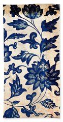 Blue Oriental Vintage Tile 06 Beach Towel