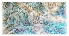Beach Towel featuring the photograph Blue Palette by Athala Carole Bruckner