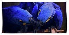 Blue Parrots Beach Towel