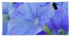 Blue Petunia Blossom Beach Towel