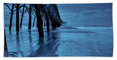 Blue Pier Beach Towel by RC Pics