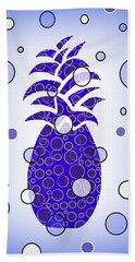 Blue Pineapple Beach Sheet by Kathleen Sartoris