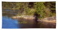 Blue Pond Marsh Beach Towel