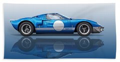 Blue Reflections - Ford Gt40 Beach Towel