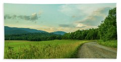 Blue Ridge Country Road Beach Sheet by Henri Irizarri