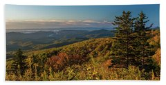 Blue Ridge Mountain Autumn Vista Beach Towel